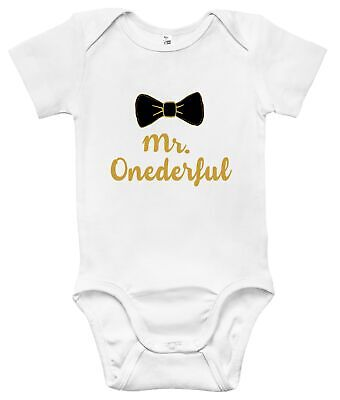 Newborn Infant Kids Baby Boy Girl Romper Bodysuit Jumpsuit Clothes Mr. Onederful