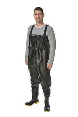 ONGUARD 868671033 Chest Waders, Steel Toe, Mens, 10, Black, 1PR