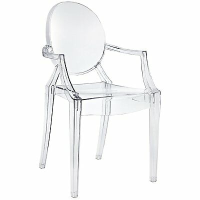 Set of 5 x Louis Ghost Chair Clear Modern Armchair Transparent Crystal Starck