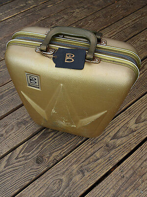 Rare Vintage Brunswick Hard Case Bowling Bag Clam Shell Case for Ball and Shoes