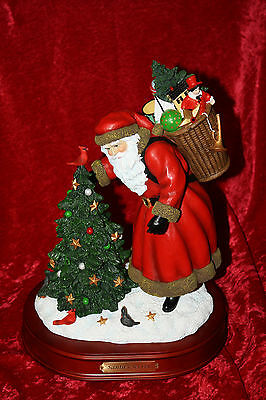 "Le 13"" Pipka Hand Painted Christmas Santa's Secret Wind-Up Musical #10102 Nob"