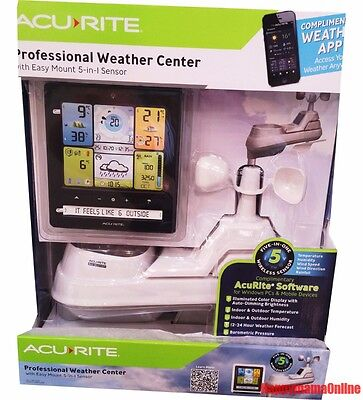 AcuRite Professional Weather Station Center w/ Easy Mount 5 in 1 Wireless Sensor