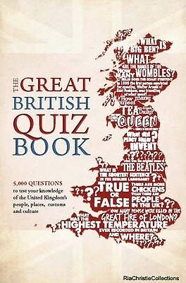 The Great British Quiz Book Roy Preston Sue Preston Paperback New Book Free UK D