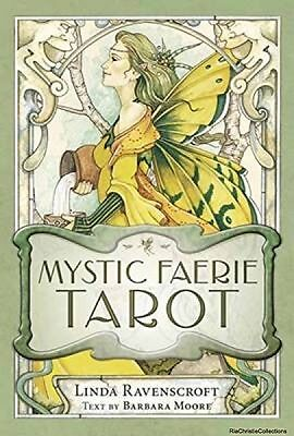 Mystic Faerie Tarot Deck Barbara Moore Linda Ravenscroft Cards New Book Free UK