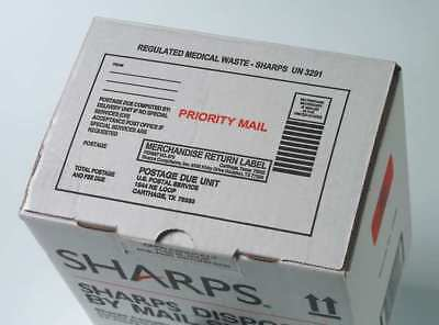 Sharps Disposal By Mail,1 Gal.,Hinged SHARPS COMPLIANCE SC1G129018