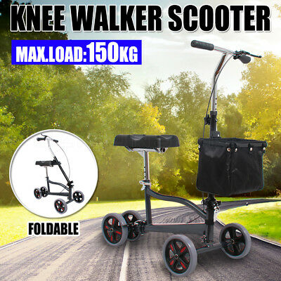 2016 NEW Knee Walker Scooter Mobility Alternative Crutches Wheelchair AU Stock