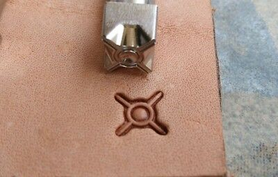 Stainless Steel leather craft concentric circles Decorative pattern Stamp tool