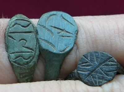Lot of 3 Antique Old RING Jewellery Poland CELTIC medieval jewelery ?