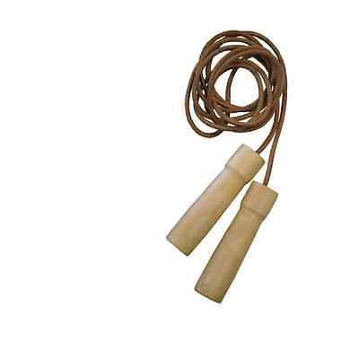 MMA Boxing Authentic Genuine Leather Heavy Duty Quality Speed TKO Jump Rope FREE