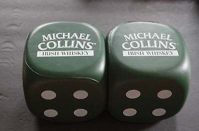 Michael Collins Irish Whiskey  3 inch rubber dice