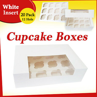 20 x 12 Hole Cupcake Box Window Face Cake Boxes Cake Boards Cupcake Boxes