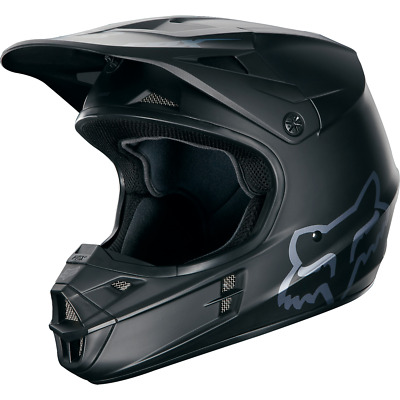 FOX V1 RACE HELM BLACK MATT   2018  MX ATV Enduro Motocross MTB