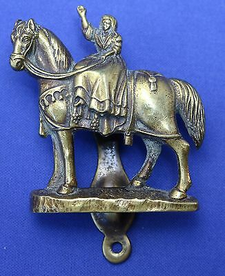 Brass Door Knocker From Uk Lady On Horse