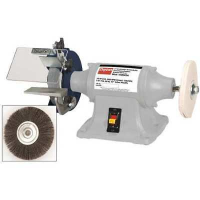 DAYTON 16W005 Bench Grinder/Buffer, 6 In