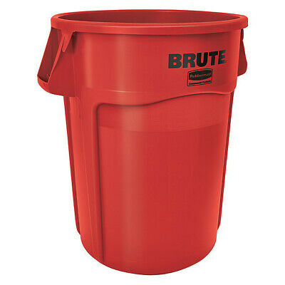 Rubbermaid 44 gal. Round Red Trash Can w/ Handles, FG264360RED
