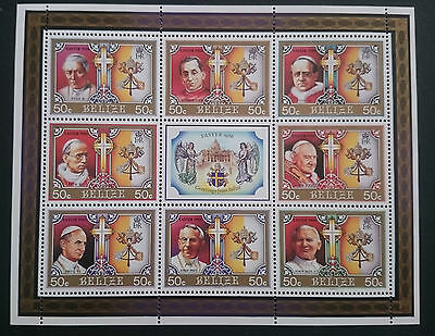 Belize **/mnh  Block 77  Ostern 1986, Pabstbesuch