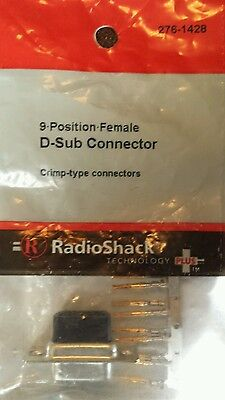 9 • Position • Female D-Sub Connector #276-1428 By RadioShack