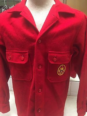 Vintage Official Boy Scout Red Wool Jacket - Size 38