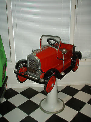 Rare 1920's Paidar Childs Pedal Car Barber Chair BarberShop Pole Shop