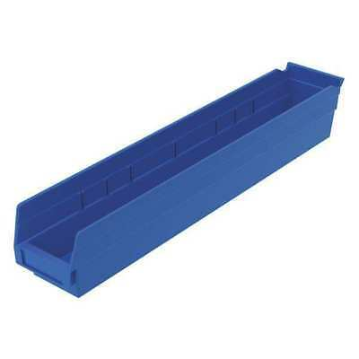 "Blue Shelf Bin, 23-5/8""L x 4-1/8""W x 4""H AKRO-MILS 30124BLUE"