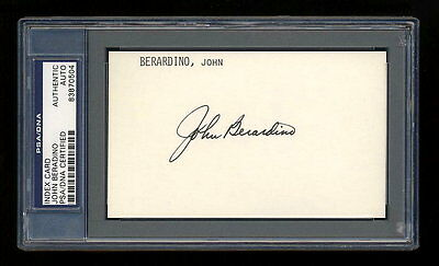 John Beradino Signed Mint Index Card Psa/dna Slabbed General Hospital Autograph