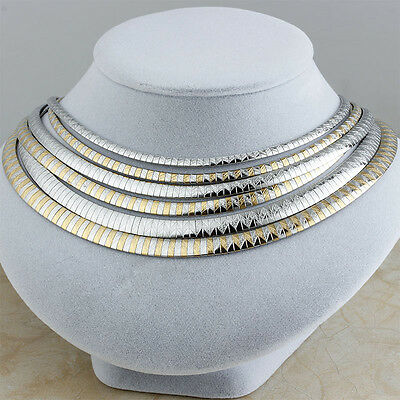 316L Stainless Steel Silver Gold Fashion Women Collar Choker Bib Chain Necklaces