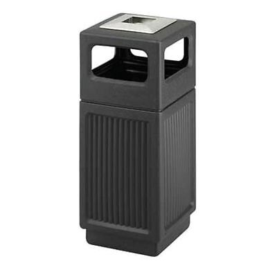 15 Gal. Canmeleon HDPE Square Trash Can, Ash Tray Top, Black SAFCO 9474BL