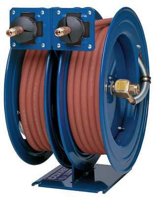 """3/8"""" x 25 ft. Spring Driven Combo Air/Water Dual Reel w/Hose"""
