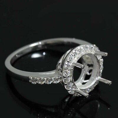 9.00 Round ring semi-mouth setting CZ silver 925 #358