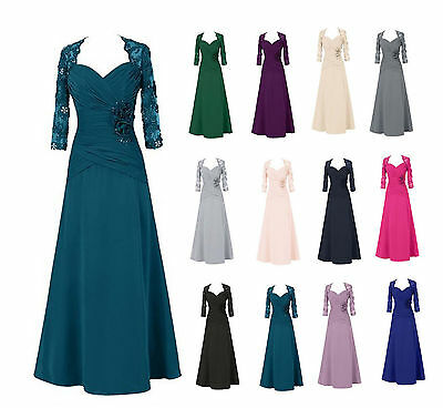 Plus Size Chiffon Long Mother of the Bride Formal Evening Party Dresses Custom