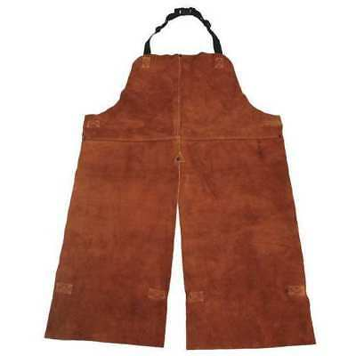 Condor Split Leg Welding Bib Apron, Leather, 4KXH3