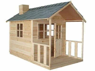 Kid's Wooden Cubby House Kids Children Playhouse Play House Hut NEW