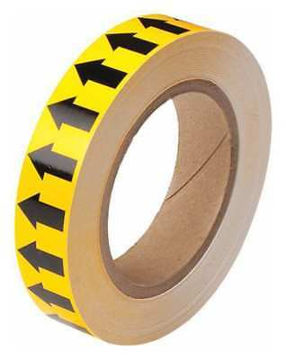 Arrow Tape,Black/Yellow,1 In. W BRADY 91424