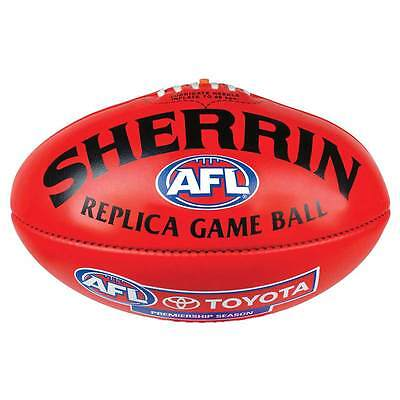 Sherrin AFL Replica Game Ball Full Size Leather Football Red & Yellow Available