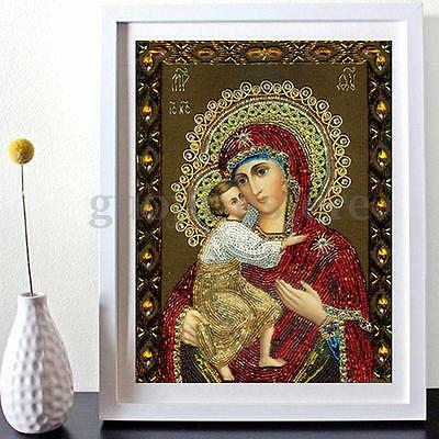 5D Cross Stitch Religious Woman People Diamond Embroidery Painting Home Decor