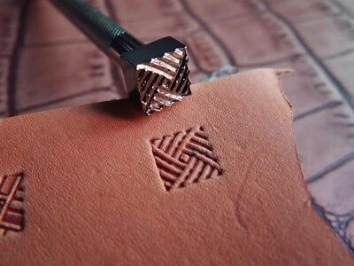 Stainless Steel  leather craft Geometric Decorative inclined pattern Stamp Tool