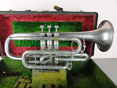 Antique H N White The King Special Large Bore Trumpet Early SN 11931 Silver