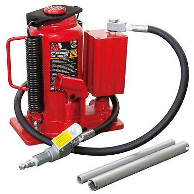 Big Red Heavy-Duty Steel 20-Ton Pneumatic Manual Air Hydraulic Bottle Jack Lift