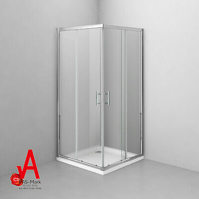 900x900x1900mm New Square Corner Sliding Shower Screen Enclosure Cubical