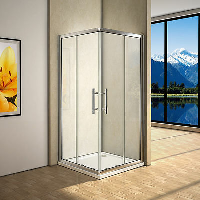 1000x1000x1900mm New Square Corner Sliding Shower Screen Enclosure Cubical