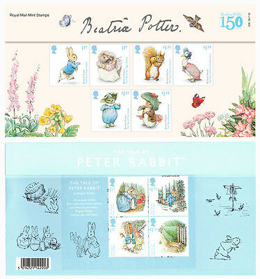 Beatrix Potter Stamps in a  Presentation Pack 2016 Royal Mail
