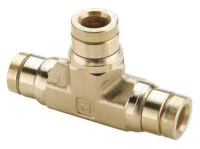 """Parker 5/8"""" Push-to-Connect Brass Union Tee, 164PMT-10"""