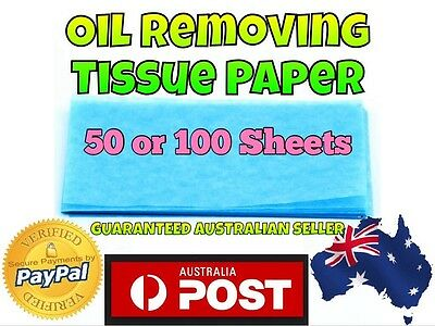 50/100 Blotting Paper Oil Control Absorbing Tissue Makeup Film Thin Sheets Acne