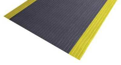 Antifatigue Mat,Black,YllwBrdr,3ft.x5ft. NOTRAX 410S0335BY