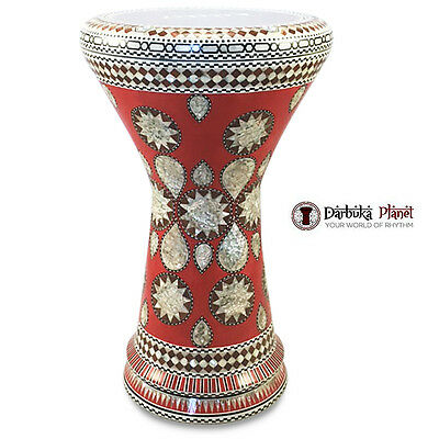 "The "" Red Lava"" NG 2.0 Sombaty Gawharet El Fan Egyptian Darbuka Doumbek"