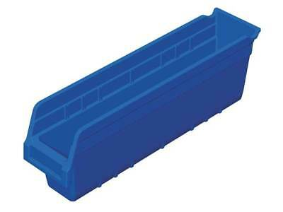 "Blue Shelf Bin, 17-7/8""L x 4-1/8""W x 6""H AKRO-MILS 30048BLUE"