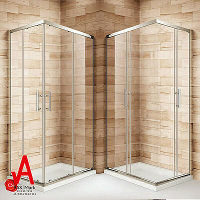 800x1000x1900mm New Square Corner Sliding Shower Screen Enclosure Cubical