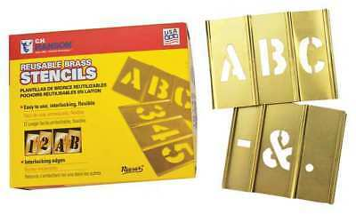 Stencil,Letters,Brass,1/2in.W x 1/2in.H REESE INTERLOCKING STENCILS 10026