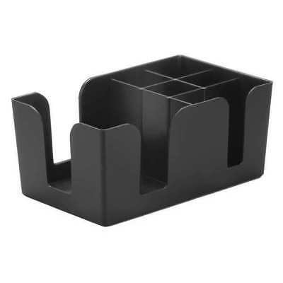 Tablecraft Products Company Bar Caddy, ABS Plastic Black, 1 Compartment, 101
