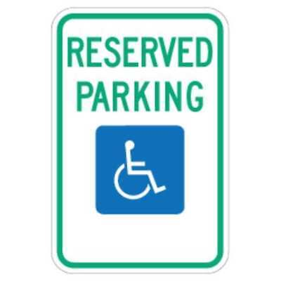 LYLE FD01S Parking Sign,18 x 12In,GRN and BL/WHT